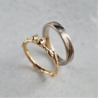 Little bird wedding ring