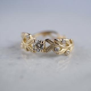 Branch diamond ring