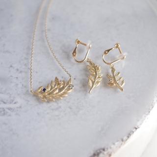 Branch necklace & earrings