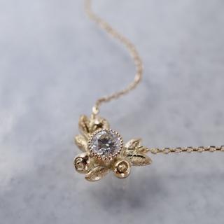 Olive diamond necklace