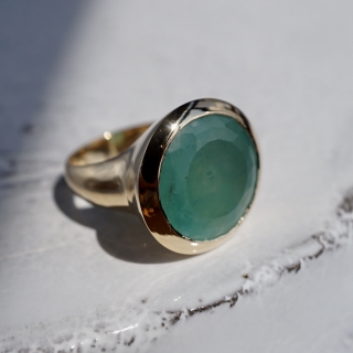 Gem silica ring