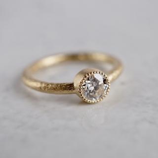 Migraine diamond ring