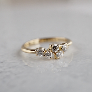 Five diamonds ring