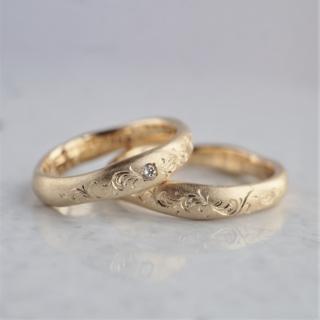 Hand engraved wedding band
